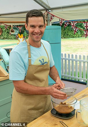 New format: The hit show is usually shot over a 12 week period with bakers travelling to and from their homes (contestant Dave pictured)