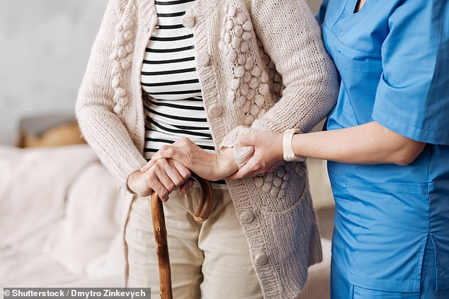 Care homes across England are tightening rules on visits due to an uptick in coronavirus infections (file image)