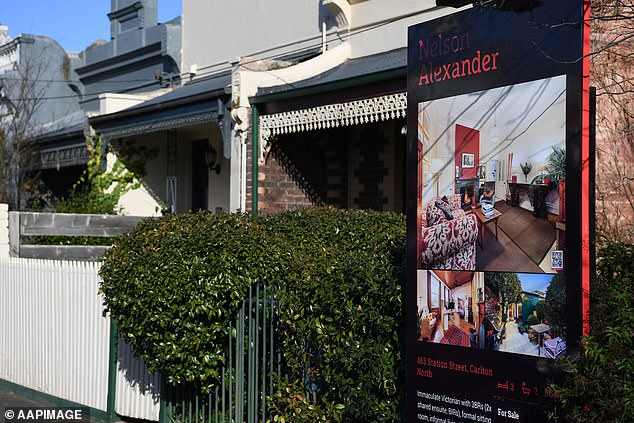 While the financial fallout from the once-in-a-lifetime pandemic has been immense, there is a still a surprising amount of optimism in the real estate sector, according to the survey. Pictured: A home at Carlton North in Melbourne