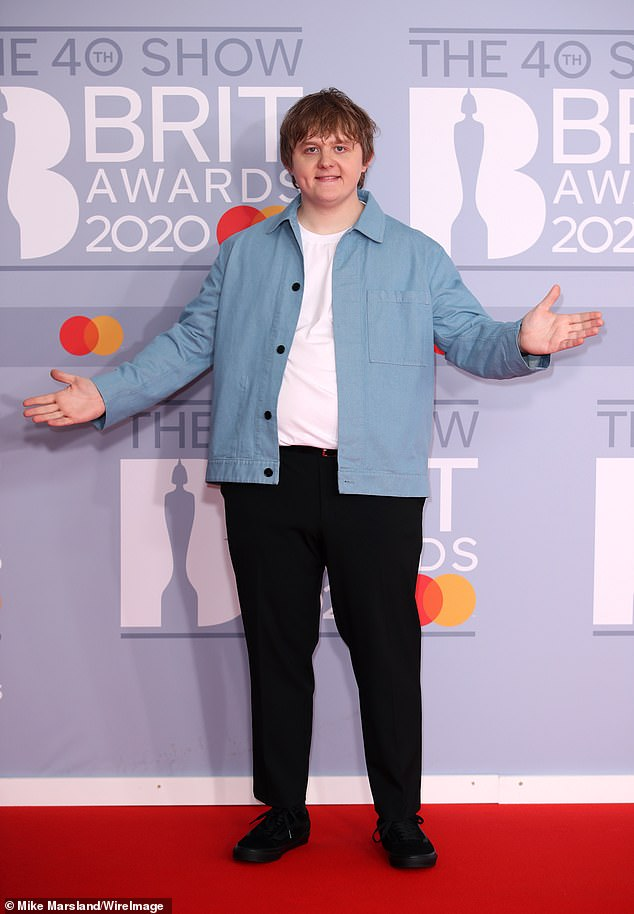 He's a busy man: The former Made In Chelsea star, 32, confessed that he reached out to superstar singer Lewis Capaldi (pictured) on social media, much to the horror of his wife