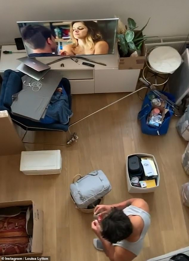 Changes: She later documented the move with a video montage, which displayed her living room covered with bags and boxes
