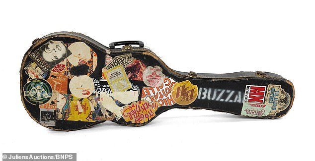 Case: This guitar case used by Wyman during his time playing bass for the Stones was also up for grabs at the auction