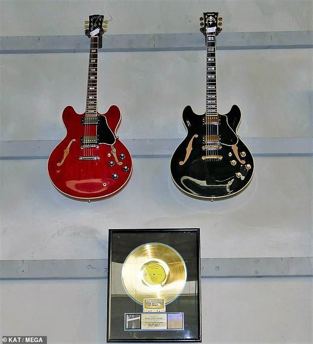 Items: The collection of 1,000 items also included amps, awards and outfits the band wore on stage throughout his 50-year career playing bass for the rock 'n roll legends