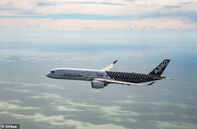 Tests — which will involve two of Airbus' A350 aircraft, pictured — will begin this year, and move to trial runs in oceanic airspace as early as 2021, the firm said