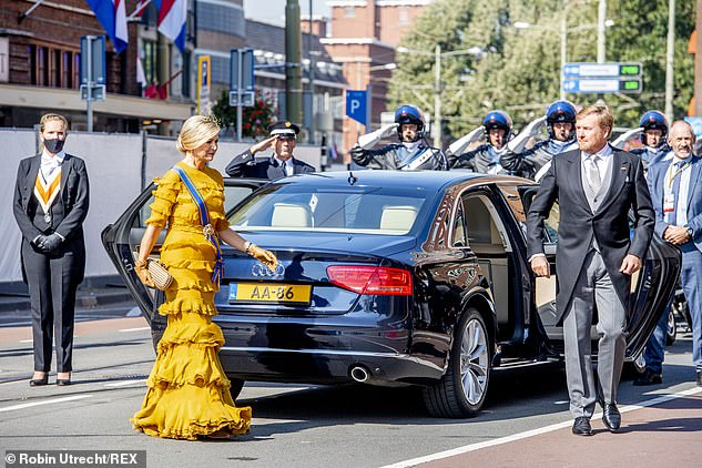 This year, the public was not allowed in to the city center of The Hague to catch a glimpse of the royal couple as they arrived for the Prince's Day ceremony