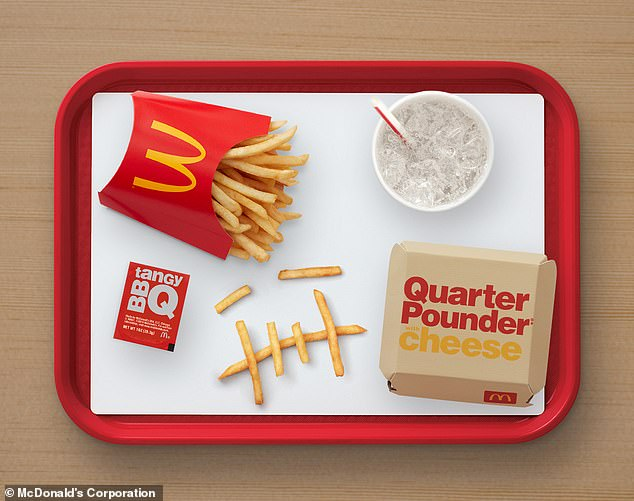 Eat up! Fans can also order Travis' favorite meal¿ a Quarter Pounder with cheese, a medium order of fries with BBQ sauce, and Sprite ¿ for just $6 by saying that Cactus Jack sent them
