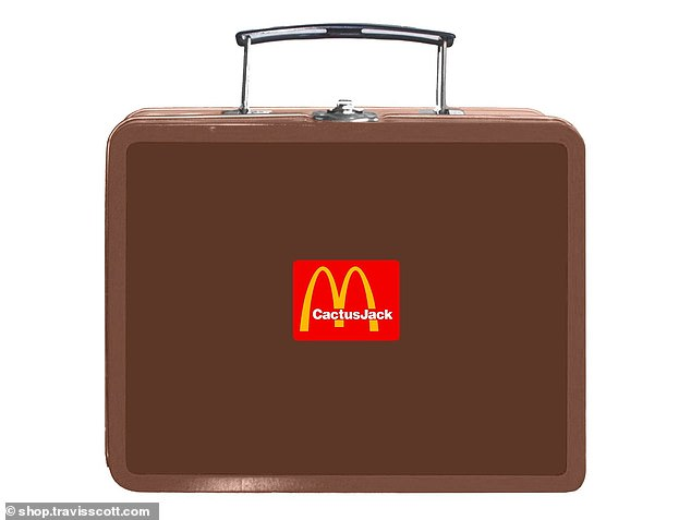 'I couldn't be more excited to bring the Cactus Jack x McDonald's collaboration to life,' Travis said in a press release (pictured: $45 lunch box)