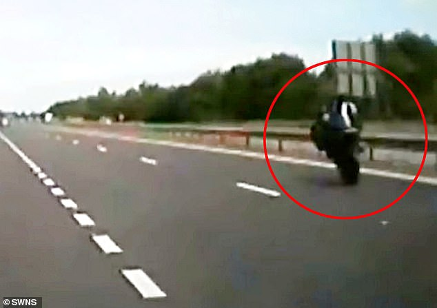 Lee Embleton, 51, sped past an unmarked police caron the A194 slip road at Follinsby Lane in Gateshead, Tyne and Wear