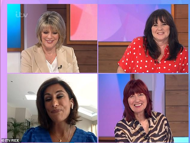 Advice: In a chat with Ruth Langsford, Saira Khan, and Janet Street Porter on Tuesday's show, Coleen also revealed that one of the pictures on her profile is a makeup-free shot