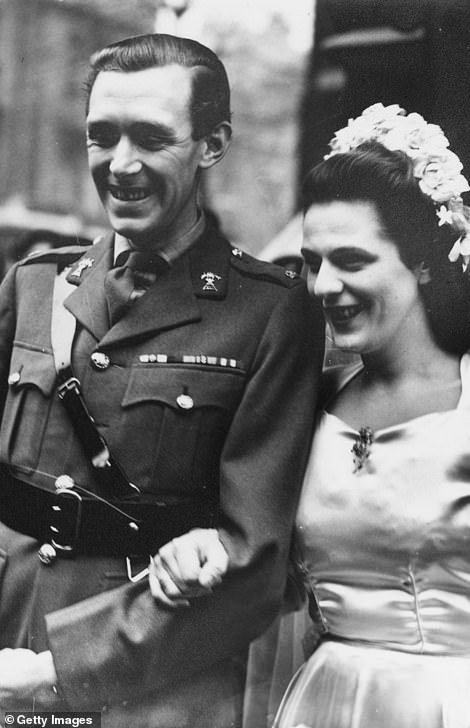 Roland Cubitt's daughter Rosalind Cubitt married Major Bruce Shand in 1946 (pictured)