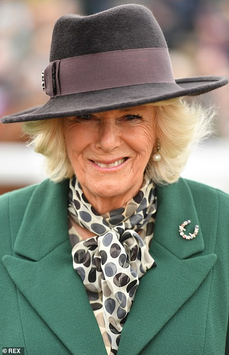 Camilla, pictured in March, is said to have spent some of her childhood holidays at Denbies learning to ride