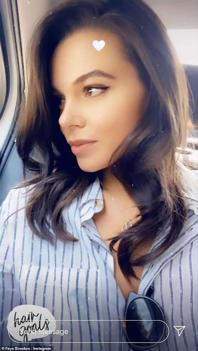 Glossy:The star put on a sultry display on her Instagram to share a selfie of her fresh locks, captioned: 'Hair goals'