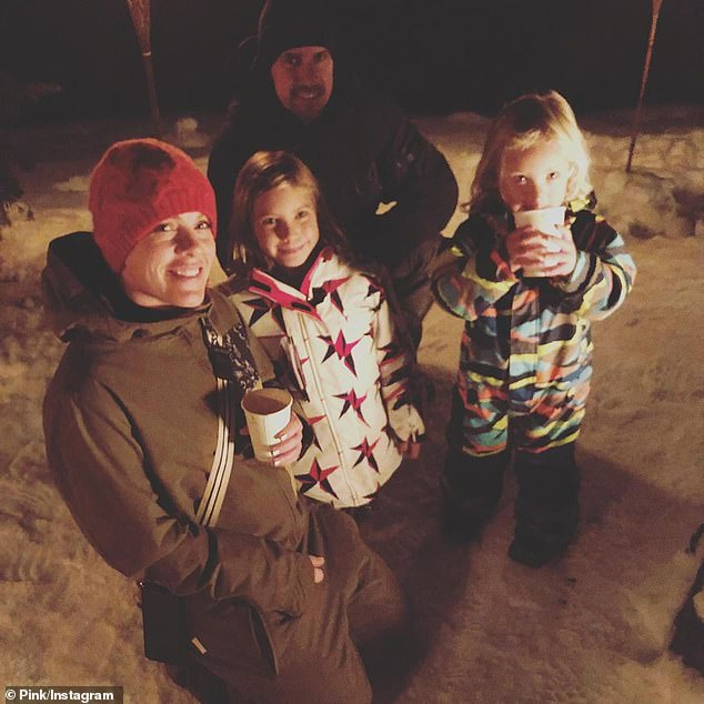 'I love you babe!' The attachment parents are raising their children - daughter Willow Sage, 9; and son Jameson Moon, 3 - in a gender-neutral environment (pictured January 2)
