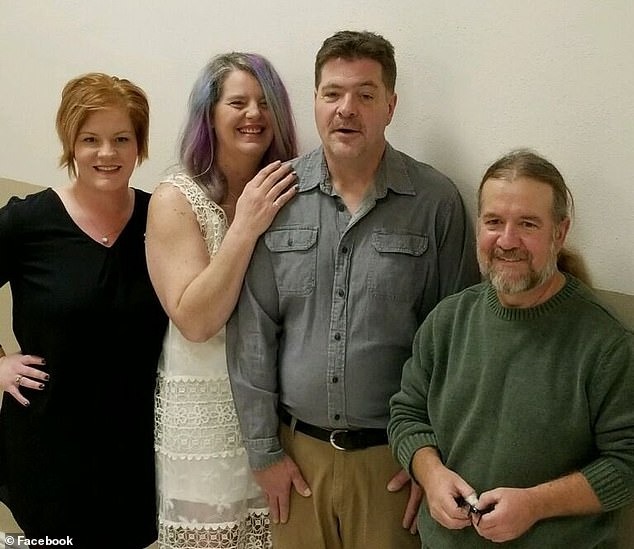 Boever's family have expressed suspicion that authorities could be working to cover up details of the incident to protect Ravnsborg. Boever is pictured second from right with relatives