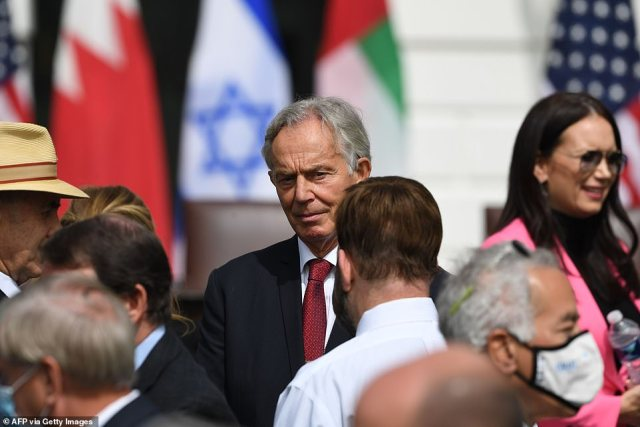 Former British Prime Minister Tony Blair attended the signing