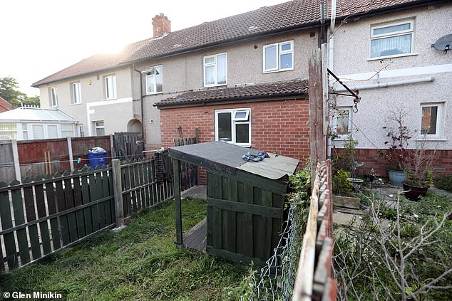 A 12-day-old baby boy has died in Doncaster after he was mauled to death by a dog. Pictured: The property where the baby was bitten