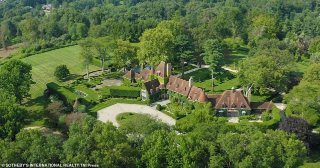 Designer Tommy Hilfiger is selling his Greenwich estate (pictured) for $47.5million just weeks after he listed his mansion in Miami for $24.5million