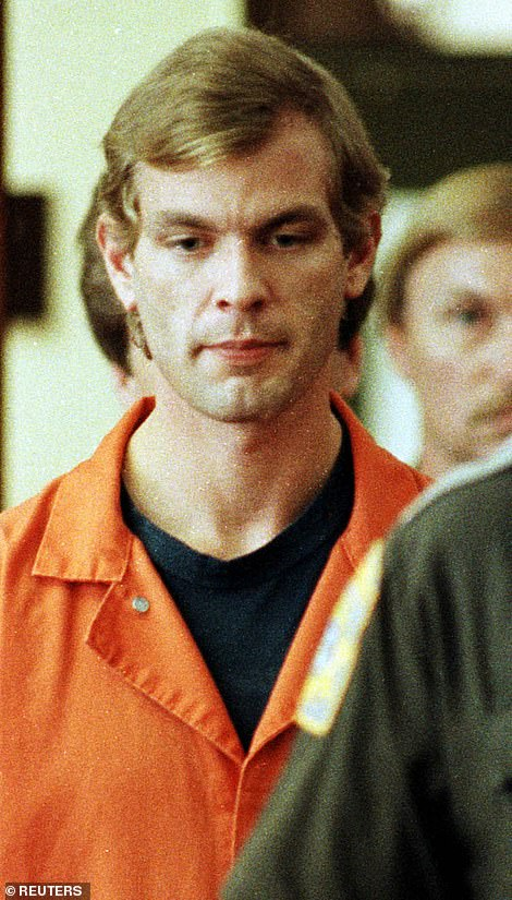 Above, serial killer Jeffrey Dahmer in July 1991