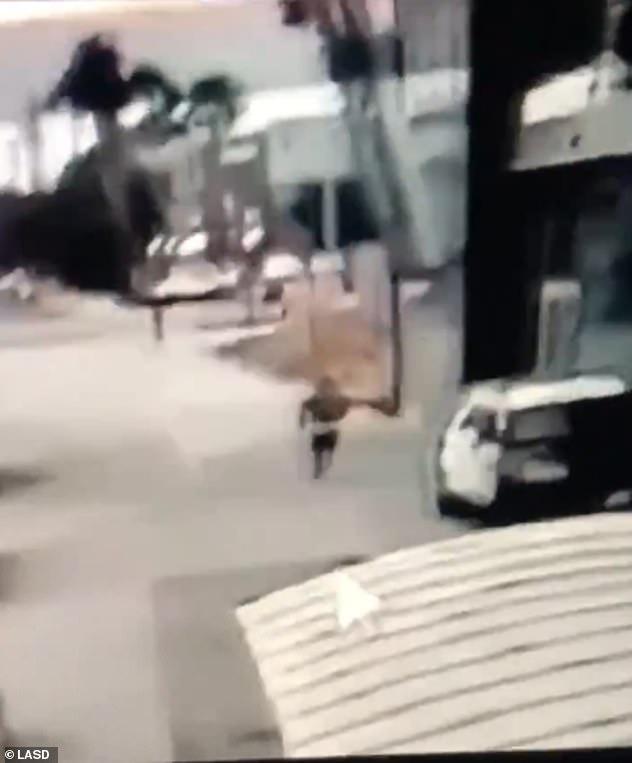 A gunman in Compton, LA, on Saturday evening shot two deputies sitting in their patrol car