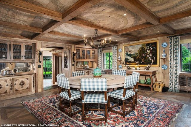 While he's waiting for a buyer for his Greenwich home (pictured), Hilfiger and his wife are looking for a new home in Palm Beach, Florida
