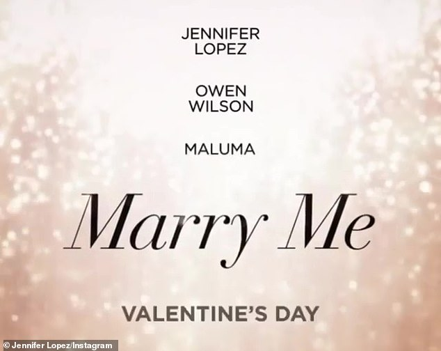 'Save the date!' The World of Dance producer-judge'sswimsuit snap came the day after she unveiled the Valentine's Day release date for Universal Pictures rom-com Marry Me starring herself, Owen Wilson, and Maluma