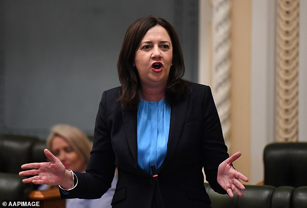 Queensland Premier Annastacia Palaszczuk's government spent almost $60,000 on alcohol in 12 months and a further $528,000 to gauge voter 'sentiment' on her drastic COVID-19 restrictions