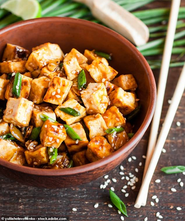 Teriyaki Tofu with Courgette