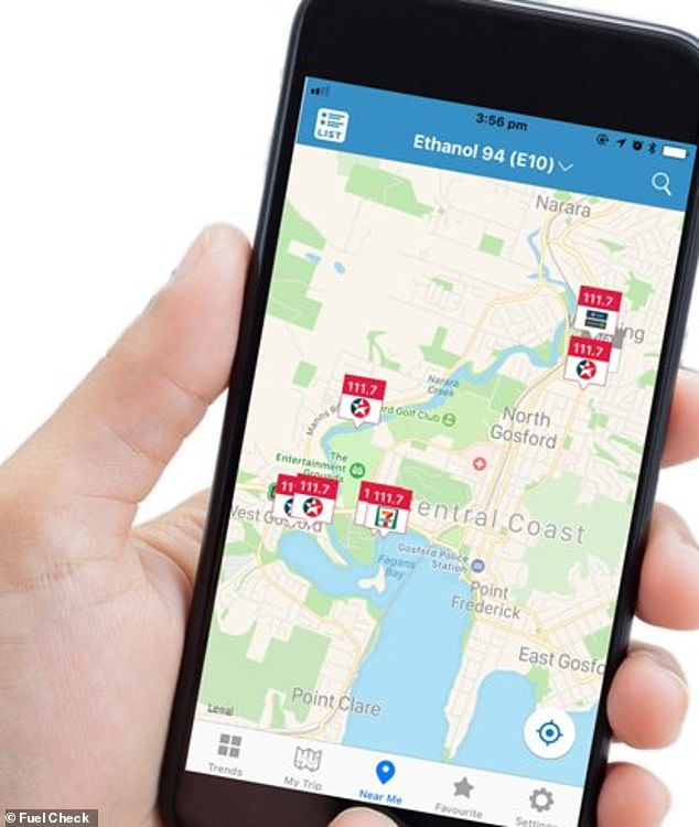 The apps have previously shown examples of a price difference up to 50c per litre in some cases