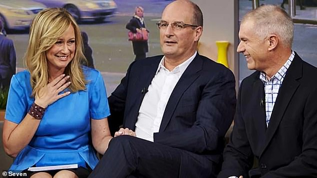 Reeve regularly worked on Sunrise and was a regular presence when Mel and Kochie were on the couch. Above, the trio together in 2013 - with Kochie the only survivor