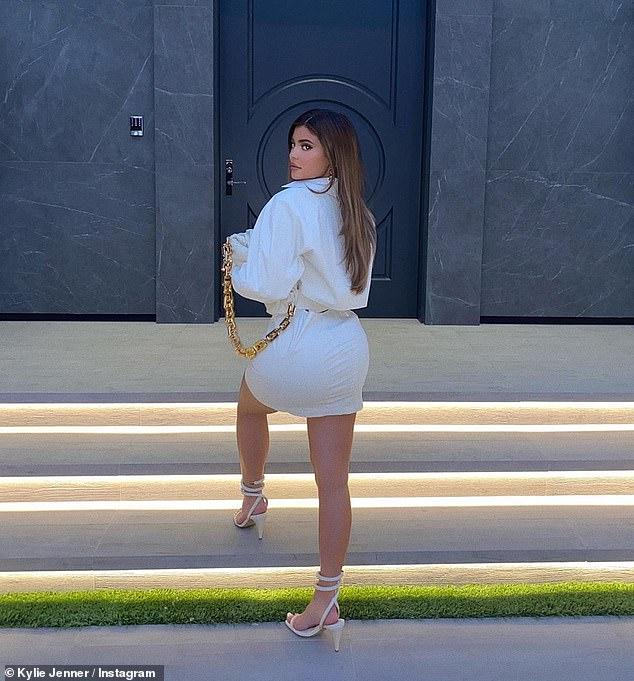 Loyalty:'bottega baby,' captioned Jenner, referencing to the Italian fashion brand Bottega Veneta