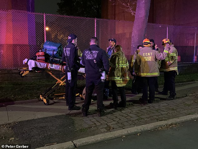 The NYPD bomb squad was called to Astoria, Queens, Tuesday night after reports that 'serious bomb making materials' were discovered by a property where a fire broke out earlier in the day