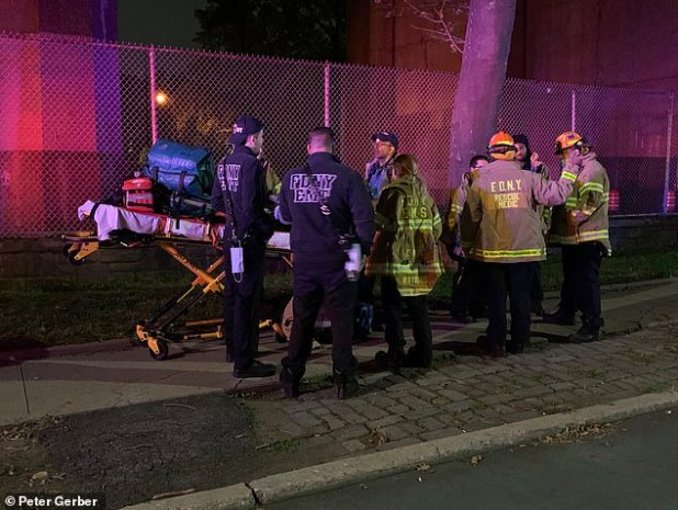 The NYPD bomb squad was called to Astoria, Queens on Tuesday night, following reports that 'serious bomb-making material' had been discovered by a property where the fire broke out earlier in the day