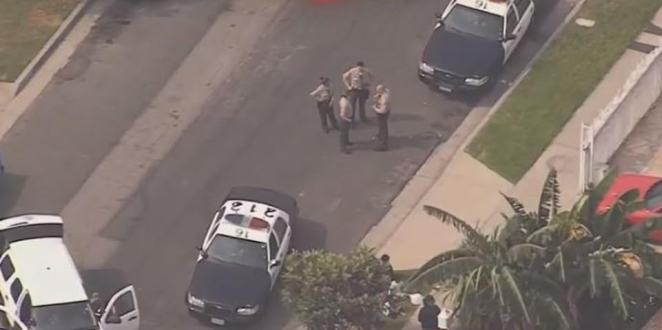 An armed carjacker who led cops on a high speed chase through the Lynwood area of Compton Tuesday before being detained by officers is said to be connected to the ambush on LA deputies