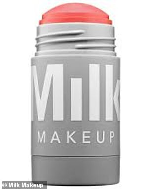 The two-in-one Milk Makeup cream is used to add a splash of colour to both the cheeks and lips
