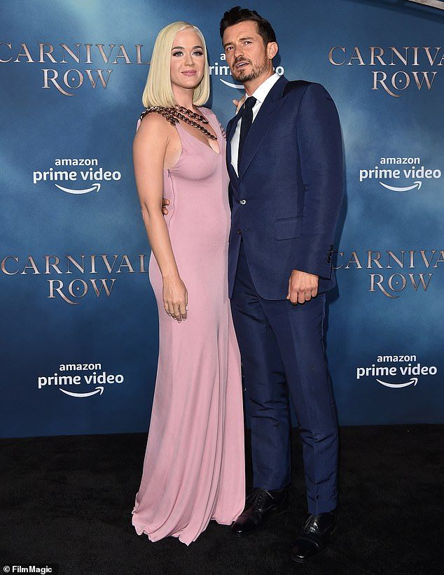 New love: The British actor and Katy introduced their bundle of joy to the world on Wednesday, August 26 via Unicef, for whom they serve as Goodwill Ambassadors; shown in August 2019