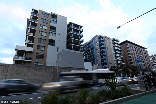 Experts have revealed an oversupply of apartments, like in Mascot (pictured), Parramatta and Rouse Hill would have an impact on investor confidence because it creates 'dangerous' price reductions in property value