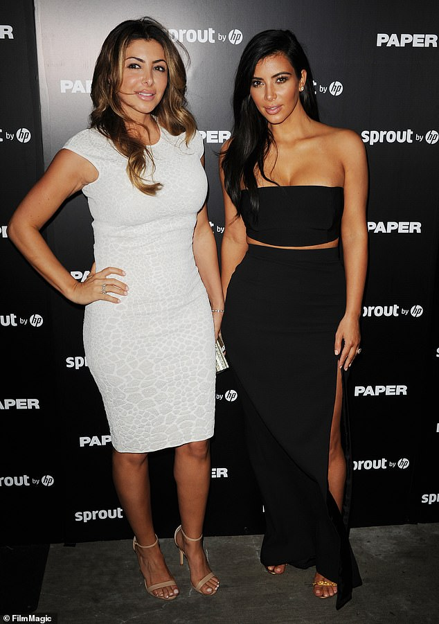Falling out:Larsa had a rumoured fall out with former best friend Kim Kardashian, 39, and her family earlier this year (pictured together in 2014)