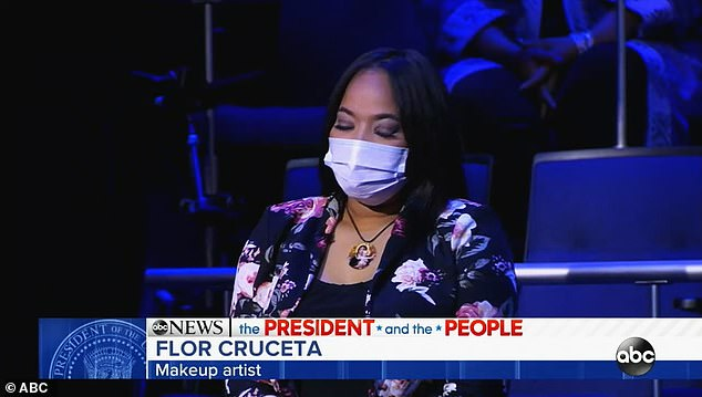 Cruceta said that her mother had died on August 19 from coronavirus, having been suffering from breast cancer. 'One of her biggest dreams was to become a citizen to vote, and she did. She did, 10 days before she died,' she told the president