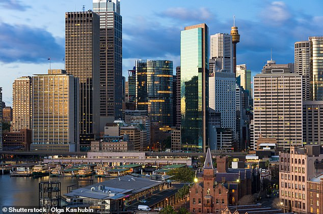 New South Wales and the ACT will suffer the most, with $581million ripped from the economy. Sydney CBD (pictured) will be the hardest hit losing almost $20million