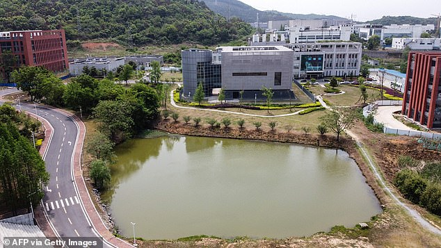 Pictured is the P4 laboratory of the Wuhan Institute of Virology in Wuhan in central Hubei province of China, which has been at the center of many theories that COVID-19 has spread from this laboratory