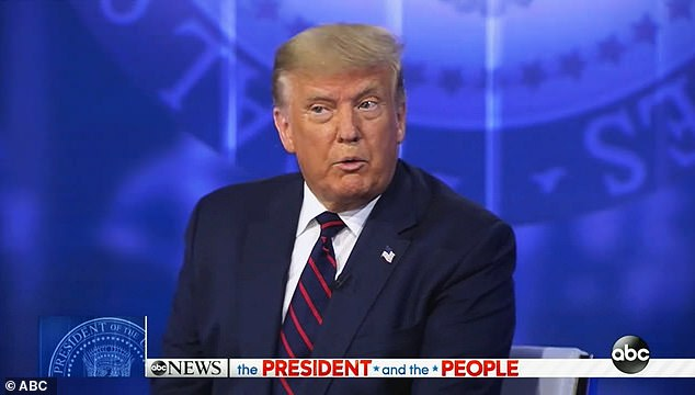 President Donald Trump faced tough questions from voters at an ABC town hall in Philadelphia that aired Tuesday night