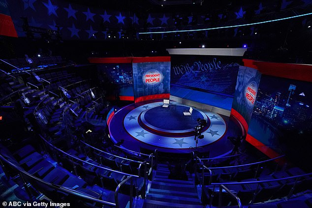 The studio set-up for Trump's town hall with undecided Pennsylvania voters moderated by George Stephanopoulos