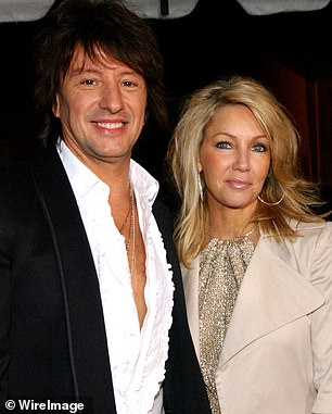 Heather has a tumultuous past with Denise amid rumors that the Real Housewives of Beverly Hills star tore Heather's husband Richie Sambora away from her in 2006, claims Denise has denied. Pictured: Heather with husband Richie in 2005