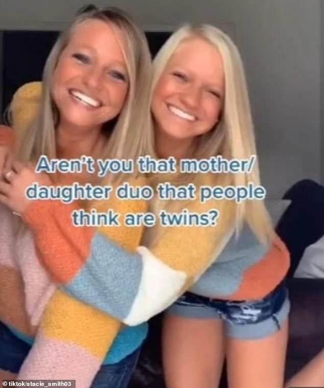 The mother-daughter duo recently went viral with a clip dancing in matching striped sweaters and denim shorts