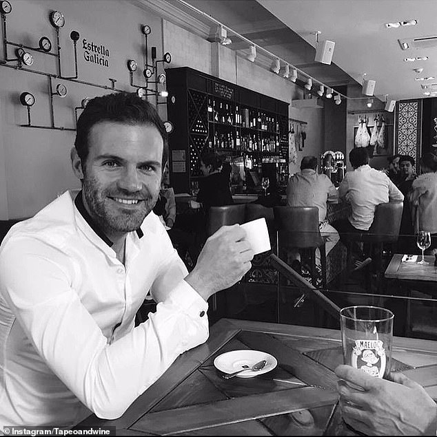 Mata pictured at Tapeo and Wine on Deansgate in Manchester, which was run by his father