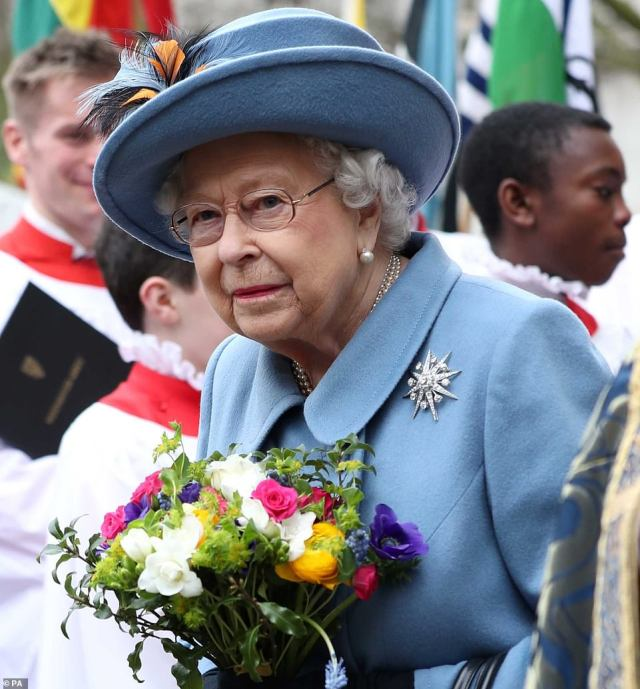 It is believed that proposals are being reviewed for how the Queen (pictured in March) could safely attend commemorations at the Cenotaph on Remembrance Sunday in November