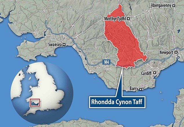 Rhondda Cynon Taf area, served by Royal Glamorgan Hospital, has third highest level of Covid cases in Wales