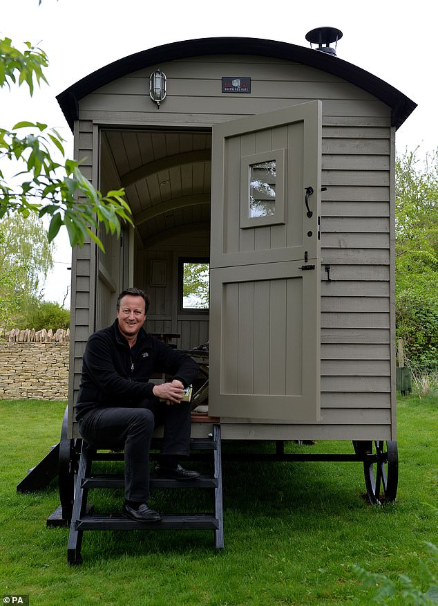 In 2017, Mr Cameron installed a £25,000 shepherd's hut in his garden so he could write his memoir, but it did not require any planning permission
