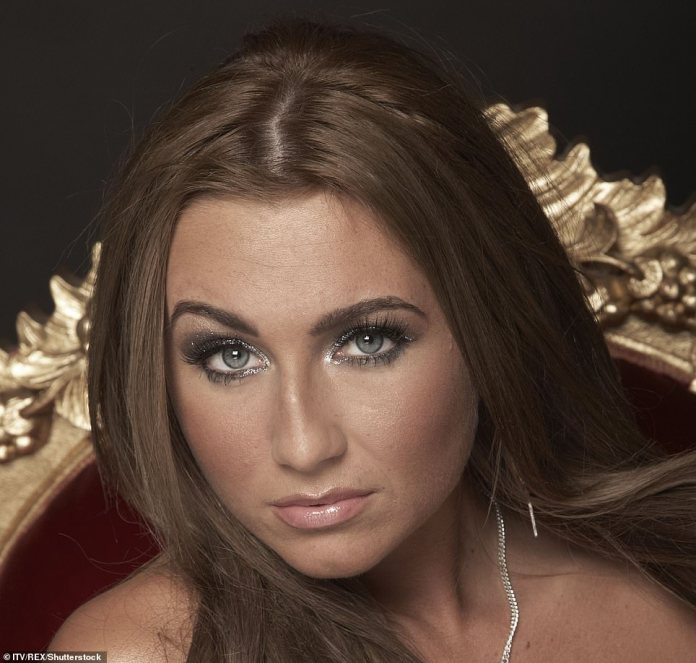 LAUREN GOODGER:Lauren has always been candid about the many enhancements she has undergone since soaring to fame following TOWIE's 2010 inauguration (Lauren pictured in 2010)