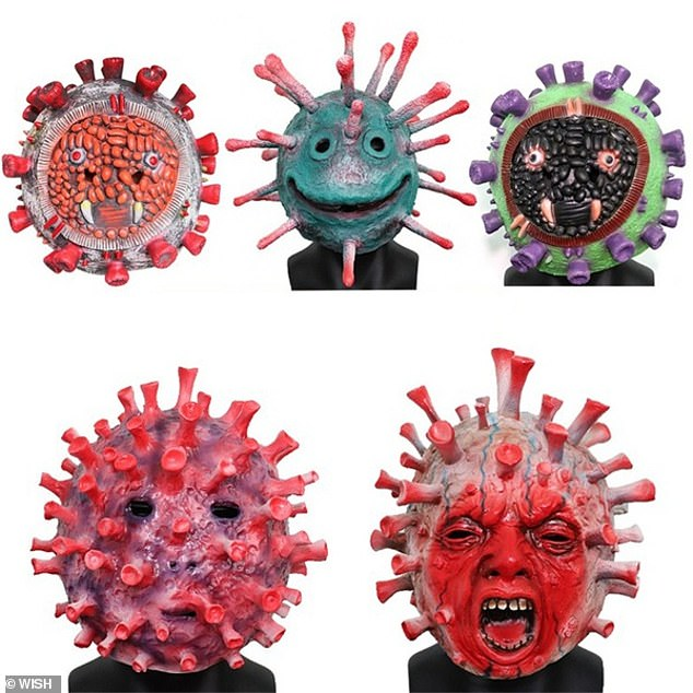 The masks have been made amid the ongoing coronavirus pandemic which is still claiming thousands of American lives